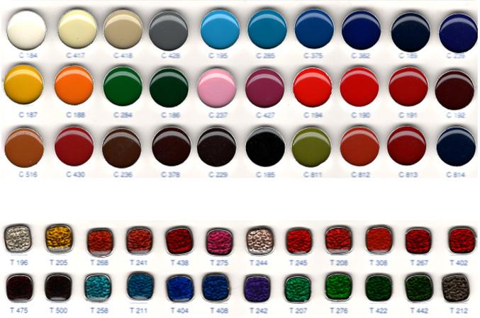 couleurs d'émail